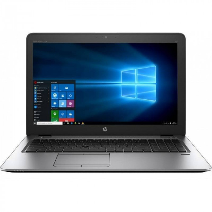 Laptop HP EliteBook 850 G4 15.6 inch Full HD Intel Core i5-7200U 8GB DDR4 256GB SSD FPR Windows 10 Pro Silver