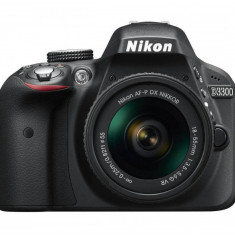 Aparat foto DSLR Nikon D3300 kit AF-P 18-55mm VR Black, Kit (cu obiectiv), Peste 16 Mpx, Full HD