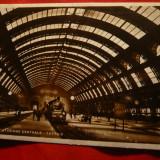 Ilustrata - Gara Centrala din Milano, cu tren, Necirculata, Fotografie