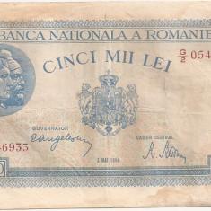 ROMANIA 5000 LEI MAI 1944 F - Bancnota romaneasca