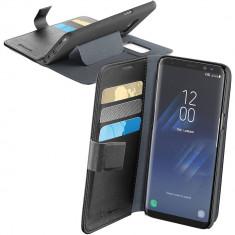 Husa Flip Cover Cellularline BOOKAGENDAGALS8PLK Negru pentru SAMSUNG Galaxy S8 Plus - Husa Telefon