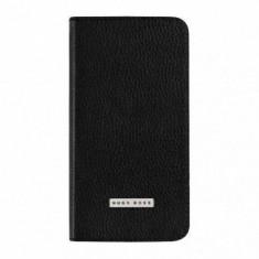 Husa Flip Cover Hugo Boss Booklet Case Folianti neagra pentru Samsung Galaxy S5