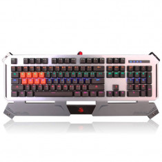 Tastatura gaming mecanica A4Tech Bloody B740 Silver - Tastatura PC A4tech, Cu fir, USB