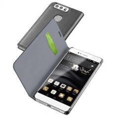 Husa Flip Cover Cellularline BOOKESSENP9K Essential Black pentru Huawei P9 - Husa Telefon