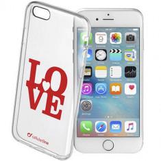 Husa Protectie Spate Cellularline STYCLOVEIPH647 Love Case Transparent pentru Apple iPhone 6 / 6S - Husa Telefon