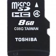 Card Toshiba Micro SDHC 8GB Clasa 4 + Adaptor SD SD-C08GJ - Card memorie