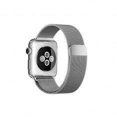 Curea smartwatch Apple Watch 38mm Silver Milanese Loop