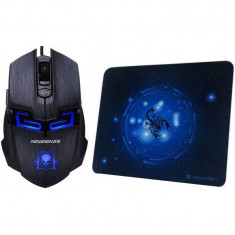 Mouse gaming Newmen Newmen N6000 Black plus Mousepad MP235