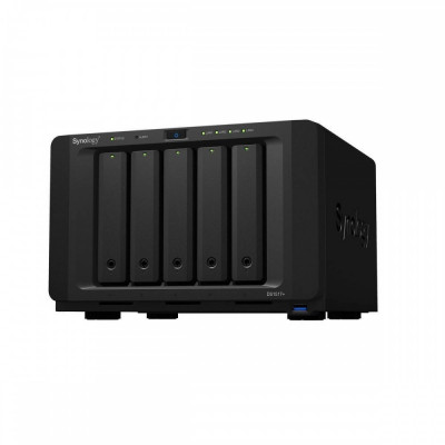 NAS Synology DS1517+ 2GB Intel Atom C2538 Quad Core 2.4 GHz 2 GB 5 Bay 4 x USB foto