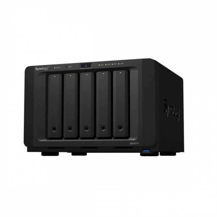 NAS Synology DS1517+ 2GB Intel Atom C2538 Quad Core 2.4 GHz 2 GB 5 Bay 4 x USB