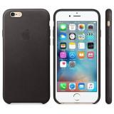 Husa Protectie Spate Apple Leather Case Neagra pentru tiPhone 6s - Husa Telefon