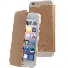 Husa Flip Cover Muvit MUCRF0033 Agenda Made in Paris Maro pentru APPLE iPhone 6 Plus - Husa Telefon