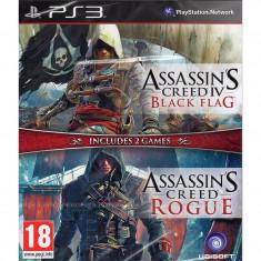 Joc consola Ubisoft Compilation Assassins Creed 4 Black Flag si Assassins Creed Rogue PS3 - Jocuri PS3 Ubisoft, Actiune, 18+