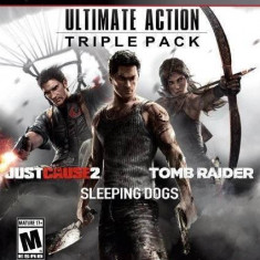Joc consola Square Enix Ultimate Action Pack Just Cause 2 Sleeping Dog Tomb Raider PS3 - Jocuri PS3 Square Enix, Actiune, 16+