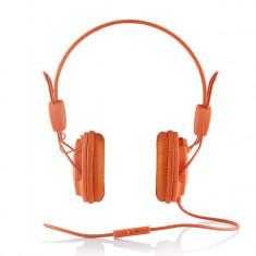 Casti Modecom MC-400 Frutty Orange, Casti On Ear, Cu fir, Mufa 3, 5mm