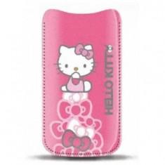 Toc Hello Kitty HKPOPUP2P Pastel roz pentru Apple iPhone 4 / 4S - Husa Telefon