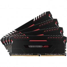 Memorie Corsair Vengeance LED Red 32GB DDR4 3200 MHz CL16 Quad Channel Kit - Memorie RAM