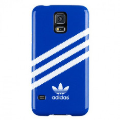 Husa Protectie Spate Adidas Hard Case albastru / alb pentru Samsung Galaxy S5