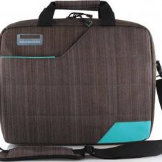 Geanta Laptop Modecom Montana Gri cu Albastru 15.6 inch