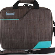 Geanta Laptop Modecom Montana Gri cu Albastru 15.6 inch, Nailon