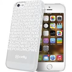 Husa Protectie Spate Celly Clove185Wh Hidden Message alba pentru Apple iPhone 5 / 5S - Husa Telefon Celly, iPhone 5/5S/SE, Plastic, Carcasa