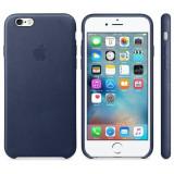 Husa Protectie Spate Apple Leather Case Albastru Midnigh pentru tiPhone 6s - Husa Telefon