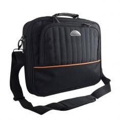 Geanta Laptop Modecom Cleveland Neagra 16 inch, Nailon, Negru