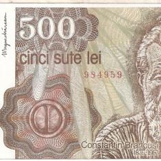 ROMANIA 500 LEI APRILIE 1991 AUNC - Bancnota romaneasca