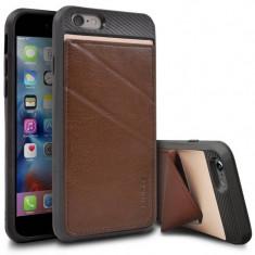Husa Protectie Spate Ringke Edge maro plus folie protectie display pentru Apple iPhone 6 / 6S - Husa Telefon Ringke, iPhone 6 Plus