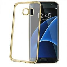 Husa Protectie Spate Celly BCLS7EGD Bumper Auriu Samsung pentru Galaxy S7 Edge