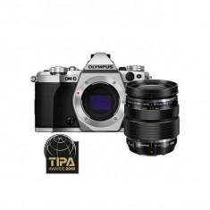 Aparat foto Mirrorless Olympus OM-D E-M5 Mark II 16 Mpx Silver Kit 12-40mm, Kit (cu obiectiv)