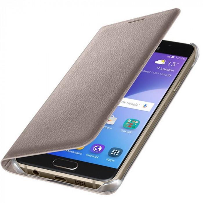 Husa Flip Cover Samsung EF-WA310PFEGWW Gold pentru Samsung Galaxy A3 (2016) foto mare
