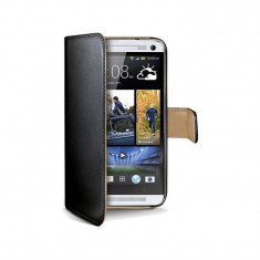 Husa Flip Cover Celly Wally311 Agenda negru pentru HTC One - Husa Telefon