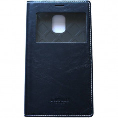 Husa Flip Cover Arium Design 232034-SGSN4E-BK Buffalo View neagra pentru Samsung Galaxy Note 4 Edge
