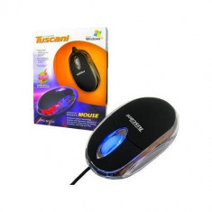Mouse 4World Mini Tuscani Color USB Black, Optica