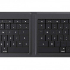 Tastatura wireless pliabila Microsoft GU5-00013 black, Fara fir, Bluetooth