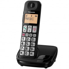 Telefon fix Panasonic DECT KX-TGE110FXB Wireless Black