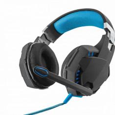 Casti Trust GXT 363 7.1 Bass Vibration Black / Blue, Casti Over Ear, Cu fir
