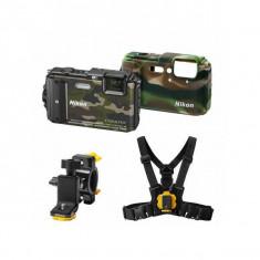 Aparat foto compact Nikon Coolpix AW130 16 Mpx zoom optic 5x WiFi subacvatic Outdoor Kit Camuflaj