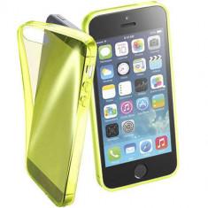 Husa Protectie Spate Cellularline FLUOCASEIPH5Y Fluo Yellow pentru Apple iPhone SE - Husa Telefon CellularLine, iPhone 5/5S/SE