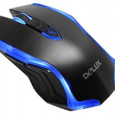 Mouse Delux M556 Black Blue, USB, Optica, Peste 2000