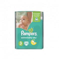 Scutece PAMPERS Active Baby 3 Midi Regular Pack 22 buc - Scutece unica folosinta copii