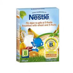 Cereale copii NESTLE mic dejun grau 5 fructe 250g de la 8 luni