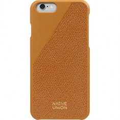 Husa Protectie Spate Native Union CLIC-GLD-LE-H-6S Clic Leather Orange pentru Apple iPhone 6 / 6S - Husa Telefon