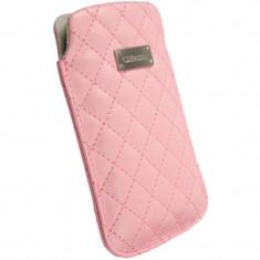 Husa protectie Krusell 95120/A1 Avenyn M pink - Husa Telefon Krusell, Piele Ecologica, Toc