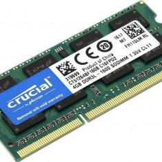 Memorie laptop Crucial 4GB DDR3 1600 MHz CL11 - Memorie RAM laptop