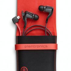 Casti wireless Plantronics Backbeat Go2 negre, Casti In Ear, Bluetooth, Active Noise Cancelling