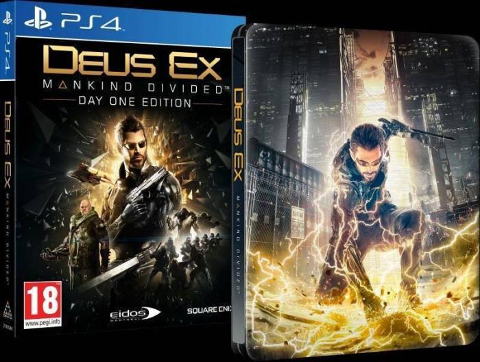 Joc consola Square Enix Ltd DEUS EX MANKIND DIVIDED STEELBOOK EDITION pentru PS4 foto mare