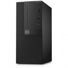 Sistem desktop Dell OptiPlex 3050 MT Intel Core i3-7100 4GB DDR4 500GB HDD Intel GMA HD 630 Linux Black - Sisteme desktop fara monitor Dell, 500-999 GB