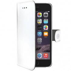 Husa Flip Cover Celly WALLY700WH Agenda Alb pentru APPLE iPhone 6, iPhone 6S - Husa Telefon Celly, iPhone 6/6S